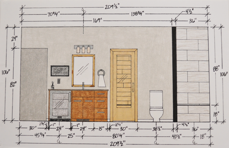 picture bathroom elevation